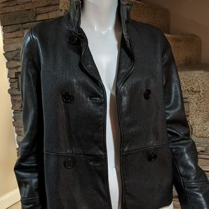 Guess Jeans leather Moto coat size 4